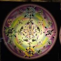 Plaque d'harmonisation Mandala sur Plexiglas 70×70 cm