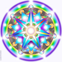 Plaque d'harmonisation : être lumière 30×30 plexiglas
