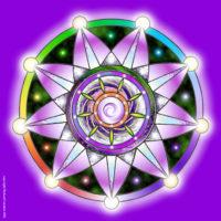 Plaque d'harmonisation : joie 40×40 plexiglas